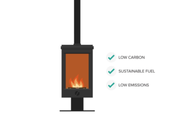 Modern wood burning stoves provide low carbon and low emission heating